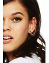 Cercel ear cuff auriu, sira spinarii flexibila