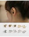 Cercel ear cuff, model cu steluta, foarte mic si delicat