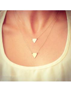 Set lantisoare subtiri pe doua randuri cu doua triunghiuri mici