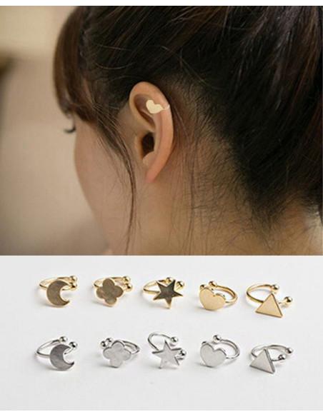 Cercel ear cuff, model cu inimioara, foarte mic si delicat
