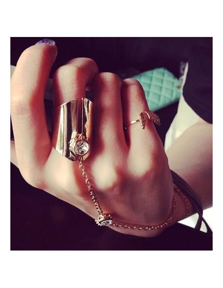 Bratara cu inel,  bratara aurie arabeasca cu inel lat si cristale