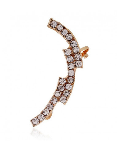 Cercel tip ear cuff statement cristale albe in trepte