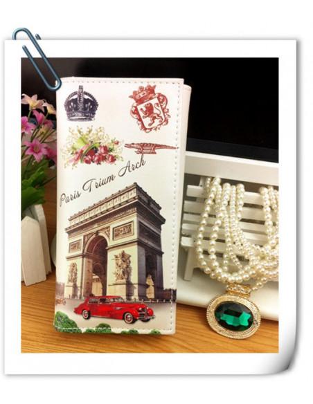 Portofel boho cu motive parisiene - Arcul de Triumf