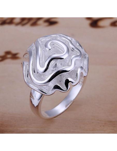 Inel din argint, model garoafa bogata