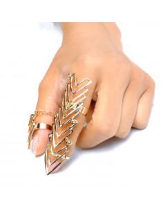 Set cu inel articulat si inel simplu prinse cu lantisor