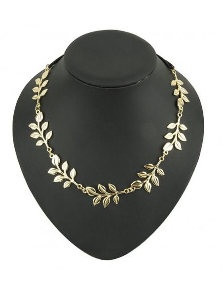 Bentita pentru par cu 6 frunze aurii lucioase