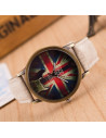 Ceas de mana, vintage, cadran London God Save The Queen