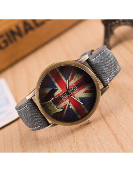 Ceas de mana, vintage, cadran London God Save The Queen