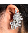 Cercel ear cuff statement White Bloom cu cristale albe