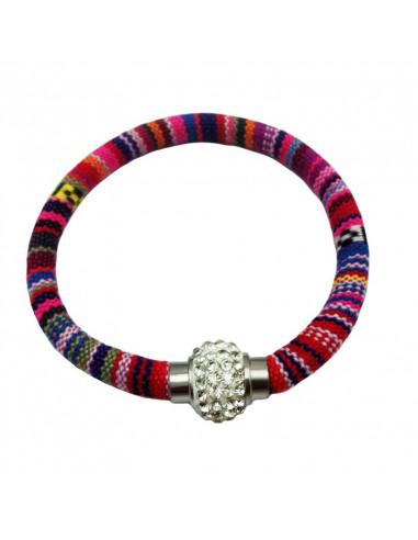 Bratara circulara cu motive etnice si medalion cu cristale