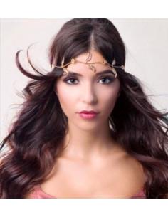 Bentita hippie, bentita boho chic cu frunze aurii