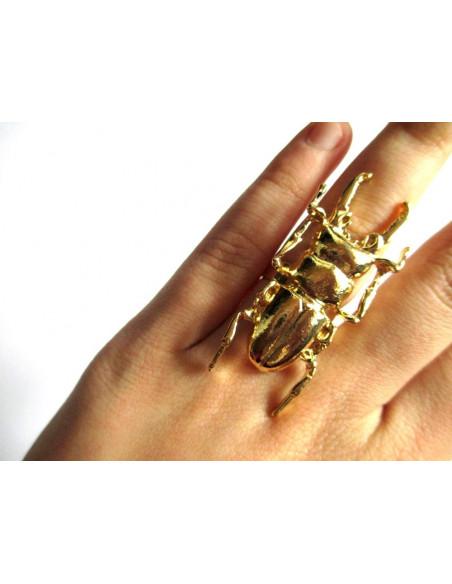 Inel vintage model scarabeu