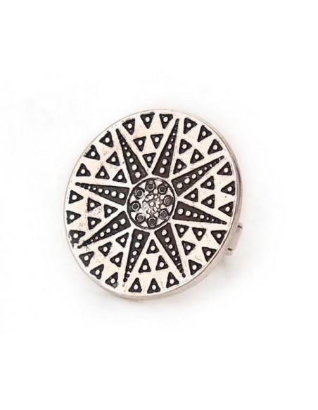 Inel argintiu vintage, cu disc tip sigiliu