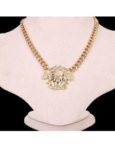 Lant auriu cu medalion cap de Medusa