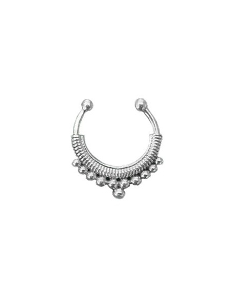 Inel fals pentru nas Septum Ring model ciorchine, piercing fals