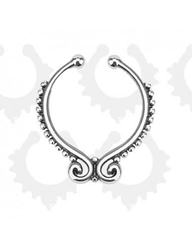 Inel fals pentru nas Septum Ring sirag de margelute, piercing fals