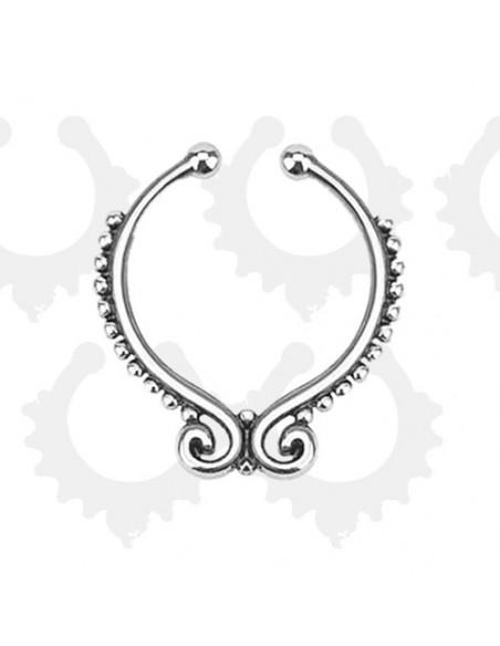 Inel fals pentru nas Septum Ring moustache, piercing fals