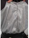 Rochie de ocazie, rochie unicat din paiete argintii si dantela neagra