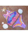 Costum de baie doua piese multicolor Rainbow power