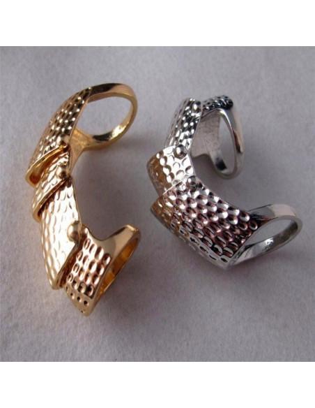 Inel argintiu cu 4 segmente articulate Armadillo
