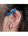 Cercel ear cuff fosforescent, model cu libelula