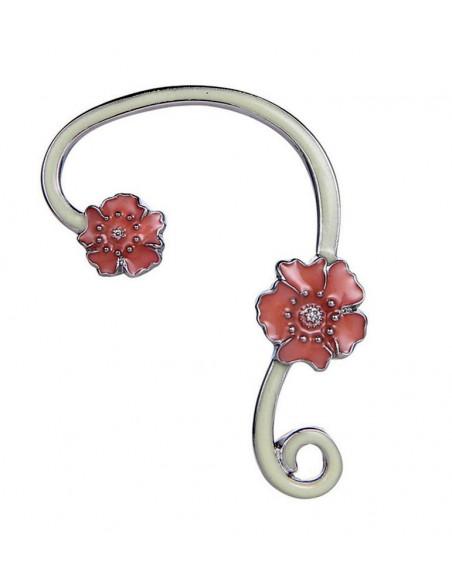 Cercel ear cuff fosforescent, model cu flori