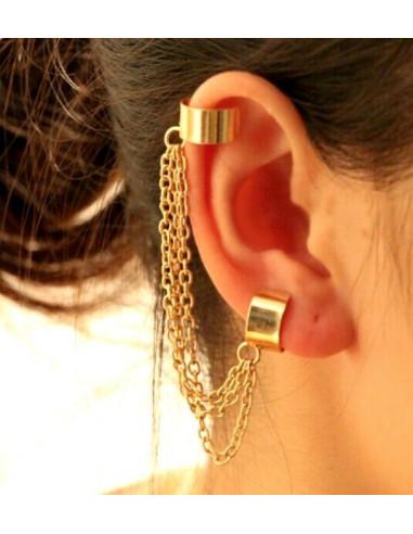 Cercel tip ear cuff, model cu trei...