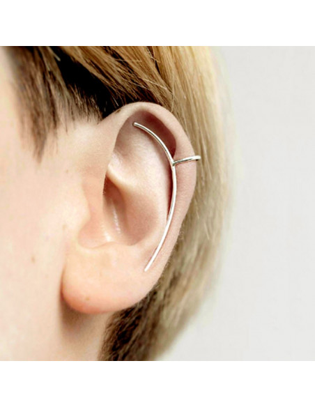 Cercel tip ear cuff, arc subtire pe toata urechea