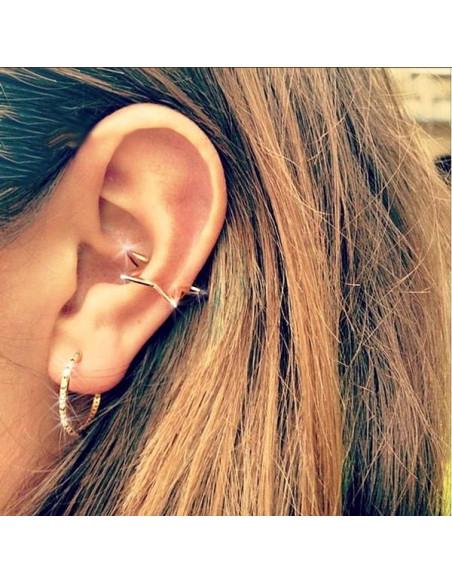 Cercel ear cuff, stea cu prindere directa pe ureche