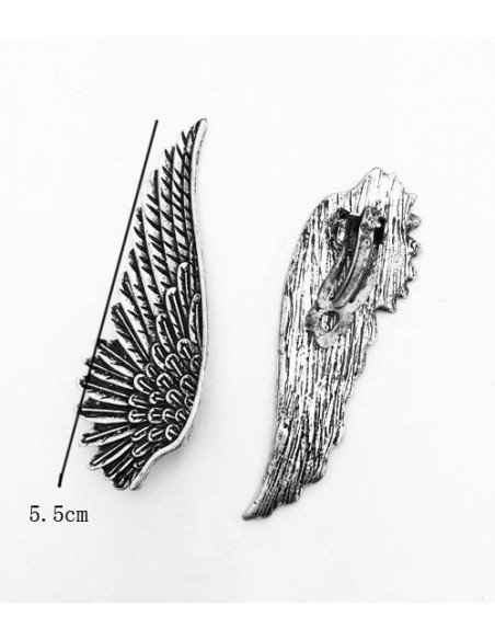 Cercei cu clips, model aripa lunga