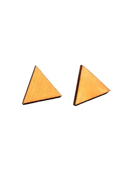 Cercei triunghiulari din lemn