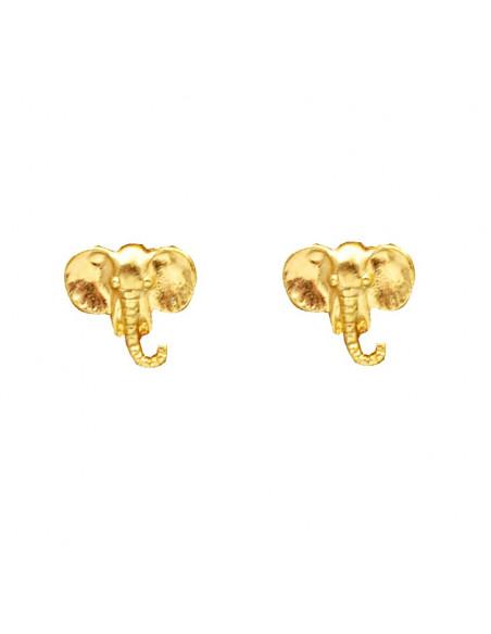 Cercei aurii minimal model cu elefanti, 'Spirit of India'
